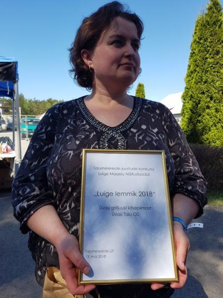 Eelmisel aastal valiti Luige lemmikuks Üvasi grilljuust kitsepiimast. Pildil Üvasi talu perenaine ja juustumeister Anne Grünberg.